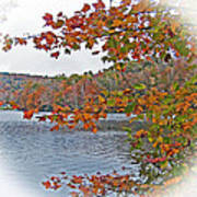 Lakeside In The Fall Poster