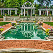 Lakeside Park Wedding Pavilion II Poster by Gene Sherrill