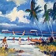Lakeworth Beach Sketch Poster