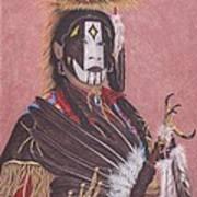 Lakota Indian Spirit Ceremonial Dress Poster by Billie Bowles