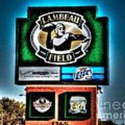 Lambeau Field Entrance Poster