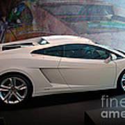 Lamborghini Gallardo Lp550-2 Side View Poster