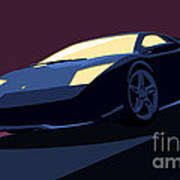 Lamborghini Murcielago - Pop Art Poster by Pixel  Chimp