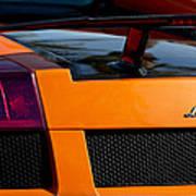 Lamborghini Rear View 2 Poster