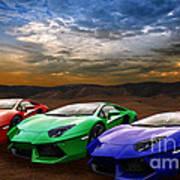 Lamborghini Triplet Poster
