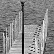 Lamp And Pier Poster