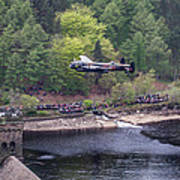 Lancaster Bomber 70th Anniversary Flypast Poster