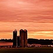 Lancaster Pa Sunset Poster