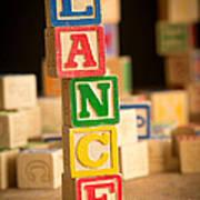 Lance - Alphabet Blocks Poster