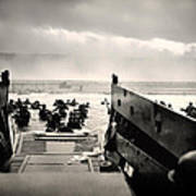 Landing At Normandy On D-day Poster