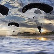 Landing At Sunset Poster