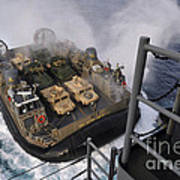 Landing Craft Air Cushion Approaches Poster