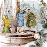 Landing Of The Vikings In The Americas Poster