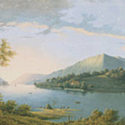 Landscape Along The Rhine Poster