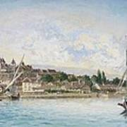 Landscape From Lake Leman To Nyon Poster