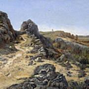 Landscape Near The Monastery Piedra Poster