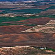 Landscape Of Rolling Farmland Steptoe Butte Washington Art Prints Poster