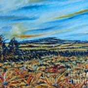 Landscape Sunflowers Field  Poster by Drinka Mercep