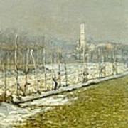 Landscape. Winter Sun Poster