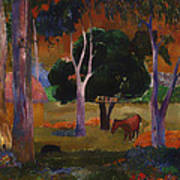 Landscape With A Pig And Horse Poster