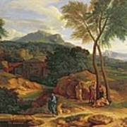 Landscape With Conopion Carrying Poster