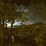 Landscape With Elijah And The Angel Poster