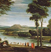 Landscape With St. John Baptising Poster