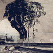 Landscape With Three Trees Poster