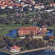 Landskrona Citadel Photographed From The Air Poster