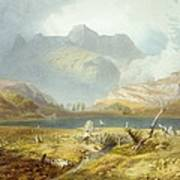 Langdale Pikes, From The English Lake Poster