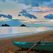 Lanikai Beach Sunrise 6 - Kailua Oahu Hawaii Poster