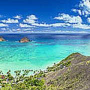 Lanikai Bellows And Waimanalo Beaches Panorama Poster