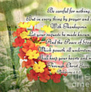 Lantana Greeting Card With Verse Poster