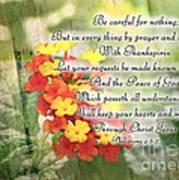 Lantana Greeting Card With Verse Poster