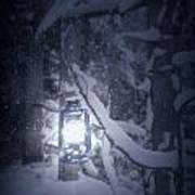 Lantern In Snow Poster by Joana Kruse