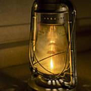 Lantern On Granite Poster
