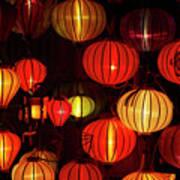 Lantern Shop At Night, Hoi An, Vietnam Poster