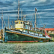 Large Fishing Boat Hdr Poster