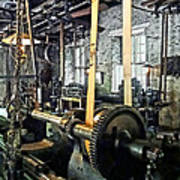 Large Lathe In Machine Shop Poster