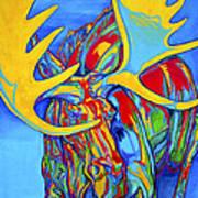 Large Moose Poster