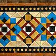 Large Mosaic Floor Tiles Poster