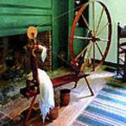 Large Spinning Wheel Poster