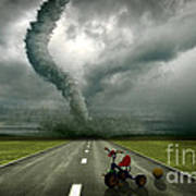 Large Tornado Poster by Boon Mee