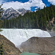 Larger View Of Wapta Falls In Yoho Np-bc Poster
