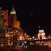 Las Vegas At Midnight Poster