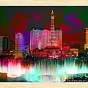 Las Vegas Bellagio Painting Poster