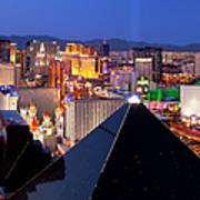 Las Vegas Skyline Poster by Brian Jannsen