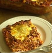 Lasagna On A Plate Poster