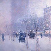 Late Afternoon - New York Winter Poster