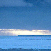 Late Afternoon Storm Antarctica Poster
